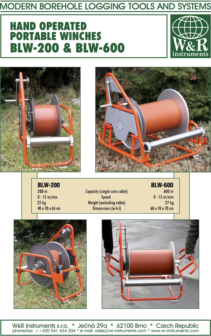 Portable Winches - W&R instruments